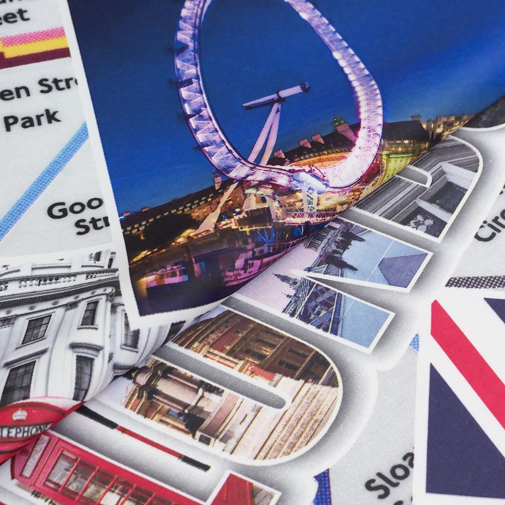 Шторы London Лондон с принтом