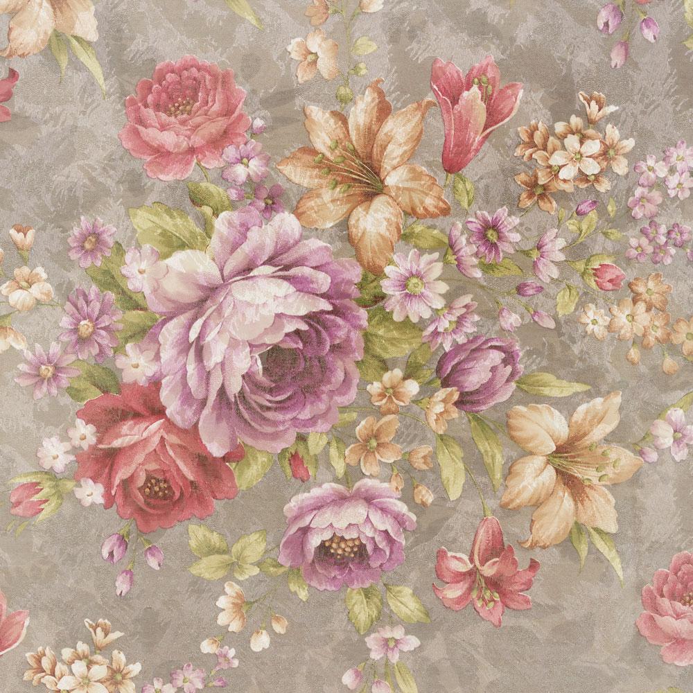 Шторы из ткани с крупным цветочным рисунком