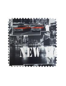 Стильные шторы из ткани с тематическим рисунком New York