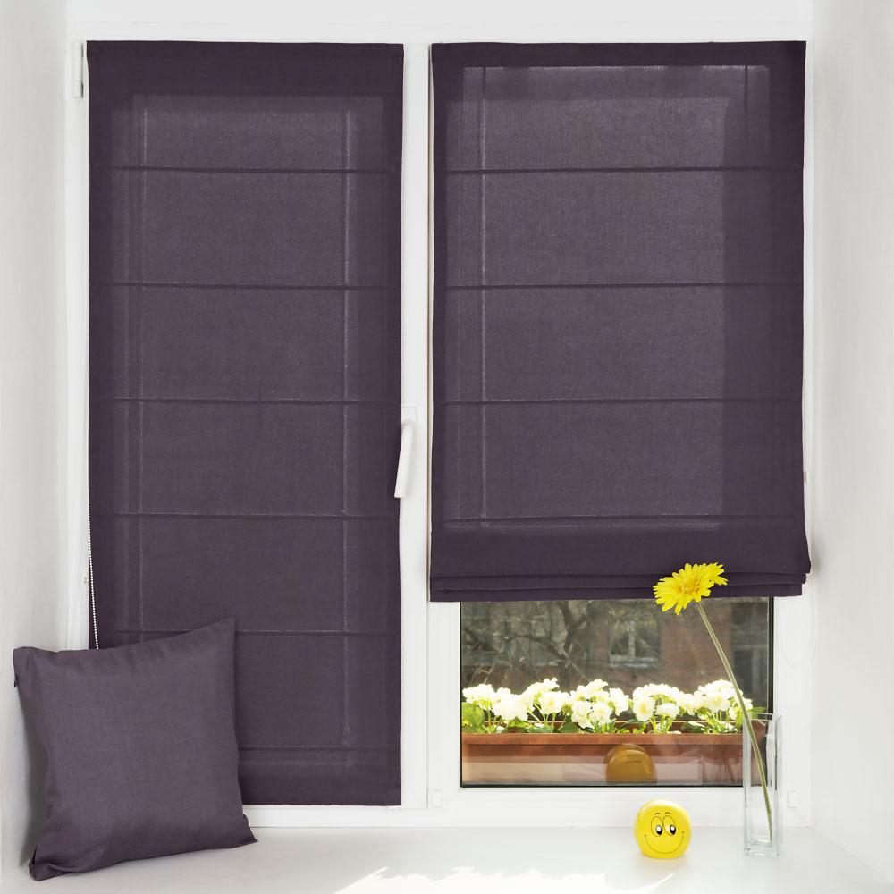 Красивые мини римские шторы закрывают всё окно в солнечную погоду