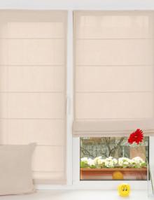 Прекрасные мини римские шторы ванильного цвета с установкой без сверления