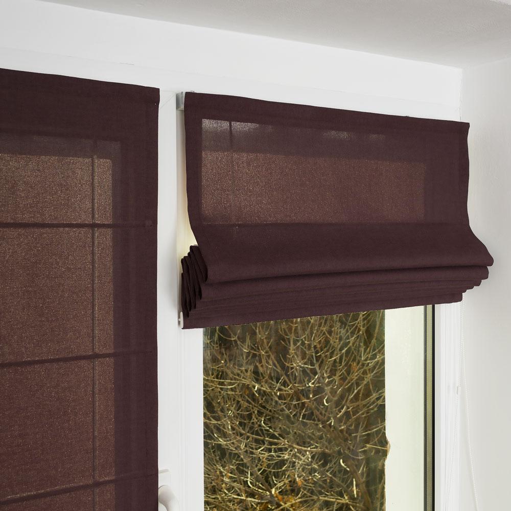 Фотография мини римской шторы на пластиковом окне