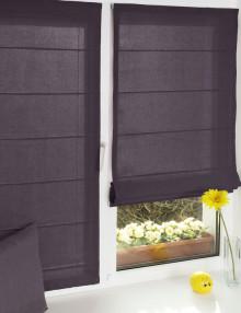 Красивые мини римские шторы на окне с установкой без сверления