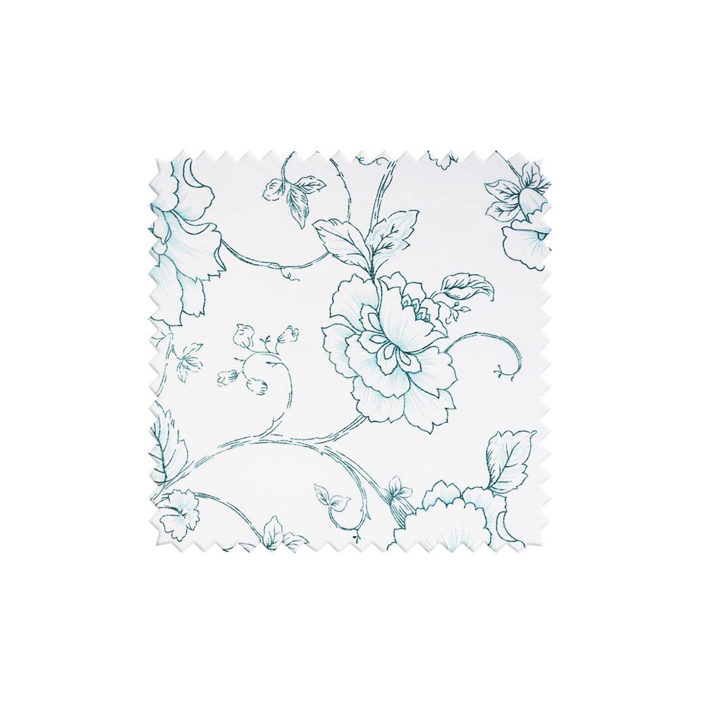 Легкая портьерная ткань для штор с цветочным однотонным рисунком