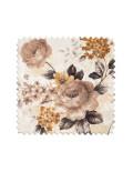 Портьерная ткань с цветочным рисунком в бежевых тонах