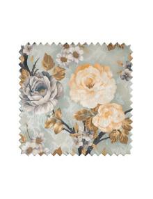 Цветы на ткани для штор и римских штор