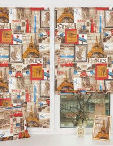 Мини римские шторы с принтом Париж подойдут для детской комнаты