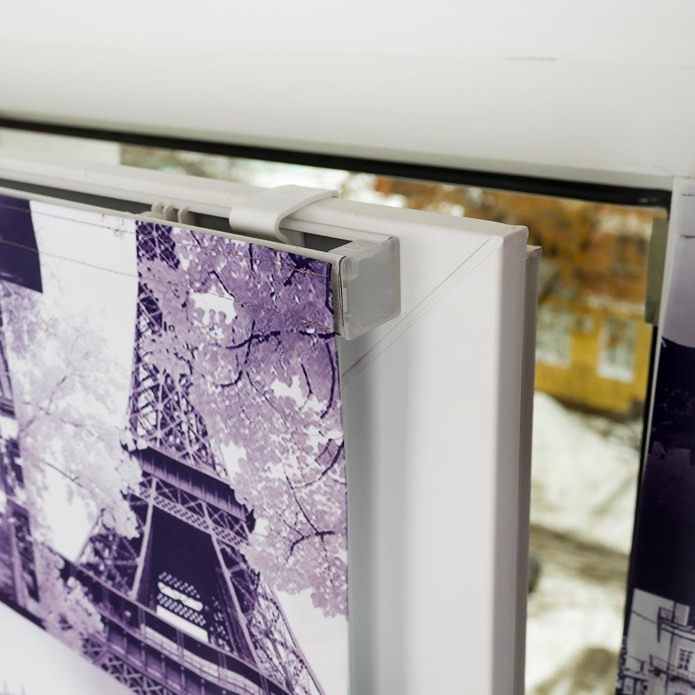 Мини римская штора в интернет магазине Новая Штора с установкой без сверленияна пластиковые окна.
