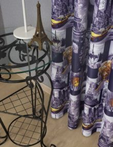 Штора из ткани с принтом Париж