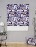 Красивая римская штора из ткани с принтом Париж для гостиной комнаты