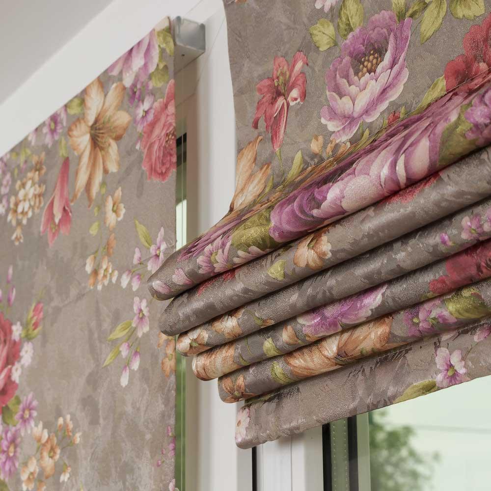 Мини римские шторы в складках