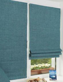 Мини римские шторы на лпастиковом окне
