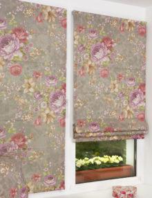 Шикарные мини римские шторы с цветочным рисунком для кухни