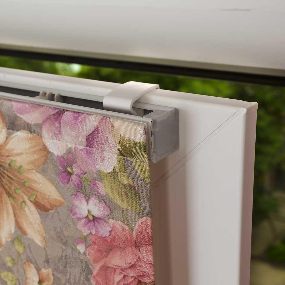 крепление мини римской шторы на пластиковое окно без сверления