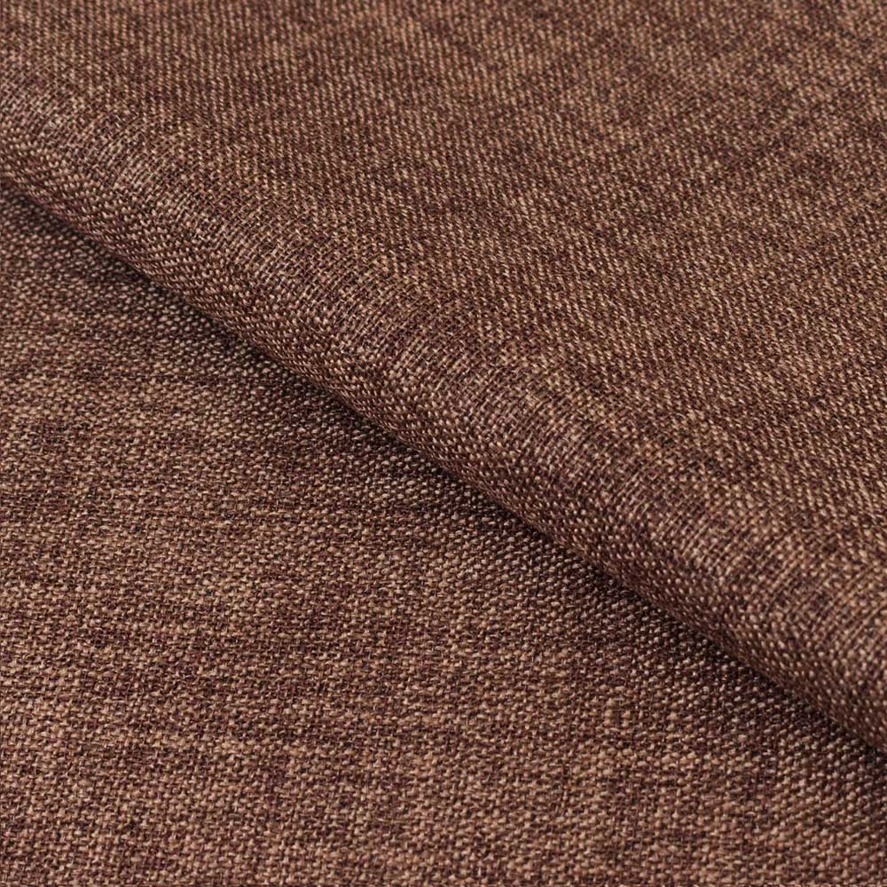 Ткань для штор шоколадного цвета с окрасом меланж на блэкауте