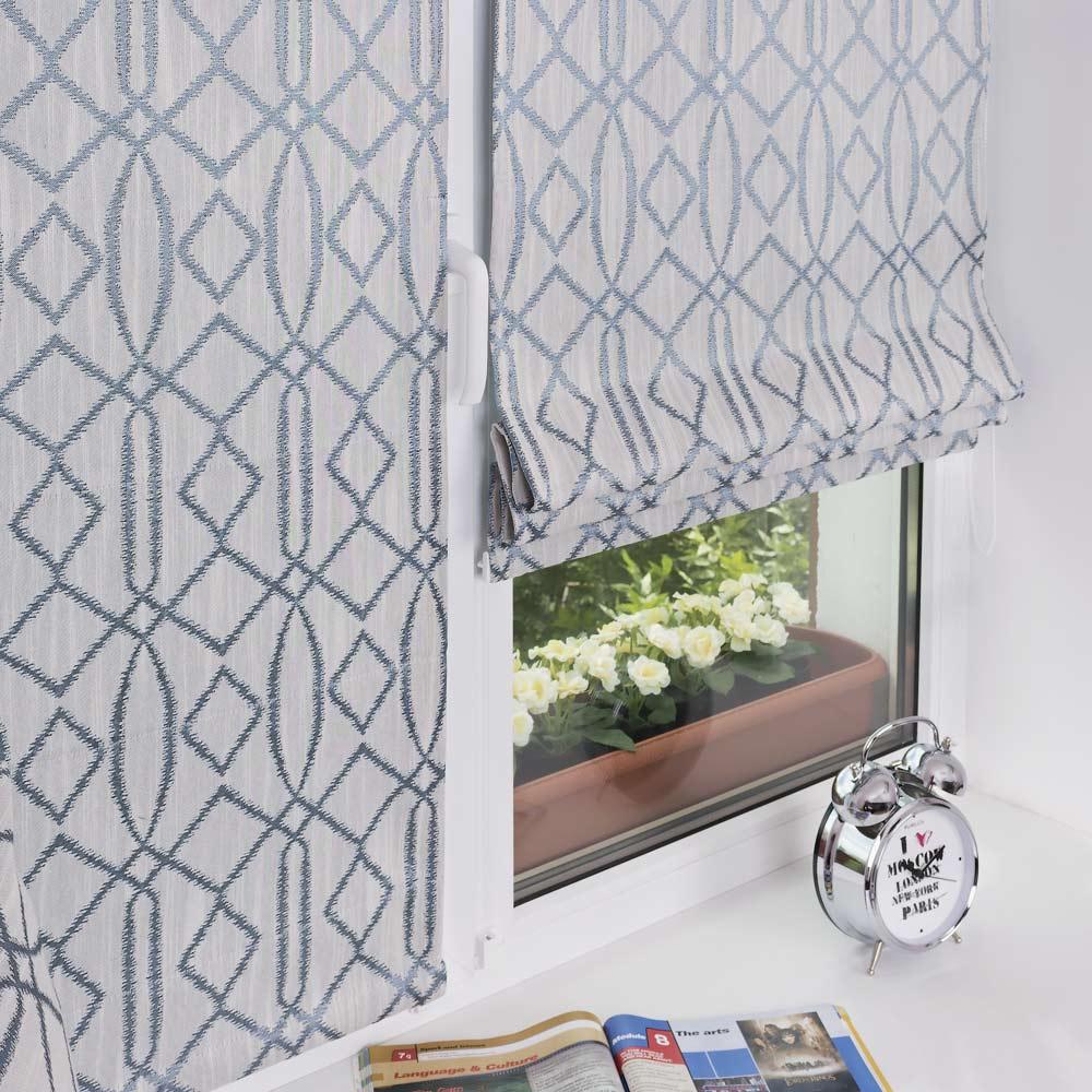 Мини римские шторы на ластиковом окне без сверления