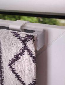 Мини римская римская штора на пластиковом окне без сверления