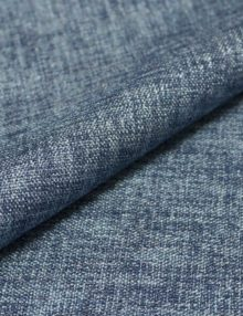 Ткань Блэкаут для штор синего джинсового цвета