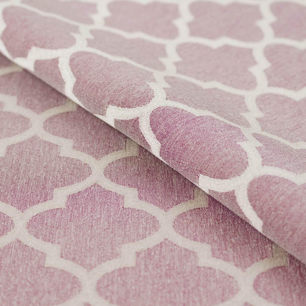 Портьерная ткань для штор розового цвета с орнаментом