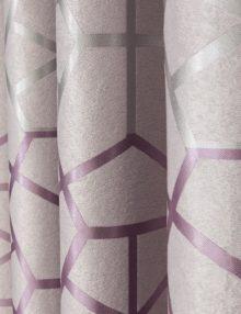 Шторы пудренного цвета с крупным орнаментом
