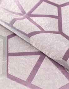 Шторы из ткани Jaklin пудренного цвета с крупным геометрическим орнаментом