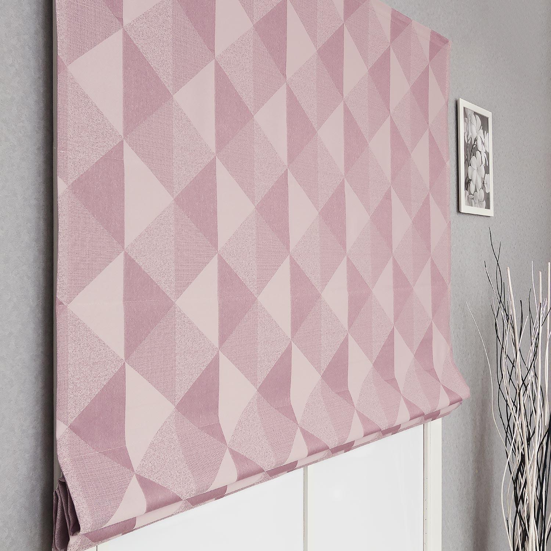 Современная римская штора из ткани с геометрическим рисунком