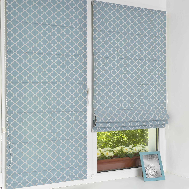 Красивые мини римские шторы на пластиковом окне с установкой без сверления