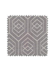 Ткань для штор с геометрическим светлым рисунком на темном фоне