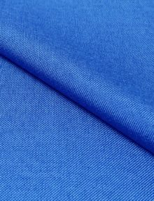 Ткань рогожка для штор синего цвета