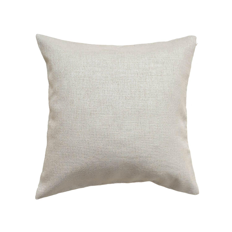 Подушка к шторам из ткани бежевого цвета с текстурой под лён
