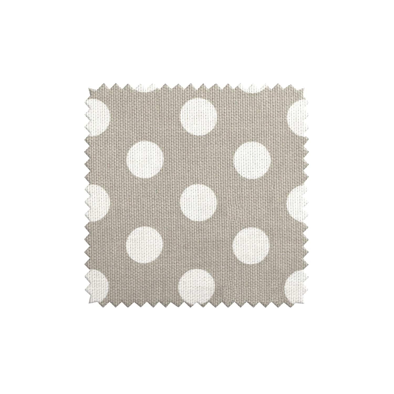 Ткань для штор в горошек на сером фоне