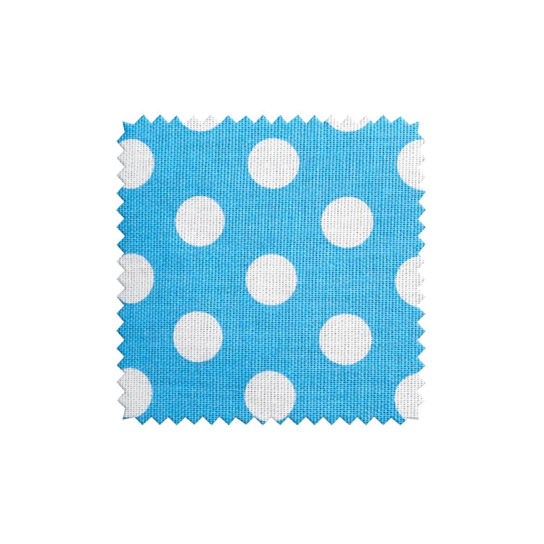 Ткань для штор в горошек на голубом фоне