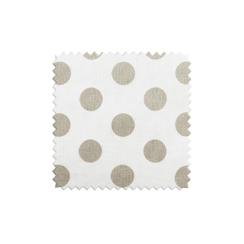 Ткань для штор в горошек из натурального хлопка