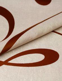 Ткань бежевого цвета для штор