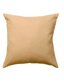 Подушка песочного цвета с съемной наволочкой