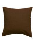 Подушка со съемной наволочкой коричневого цвета