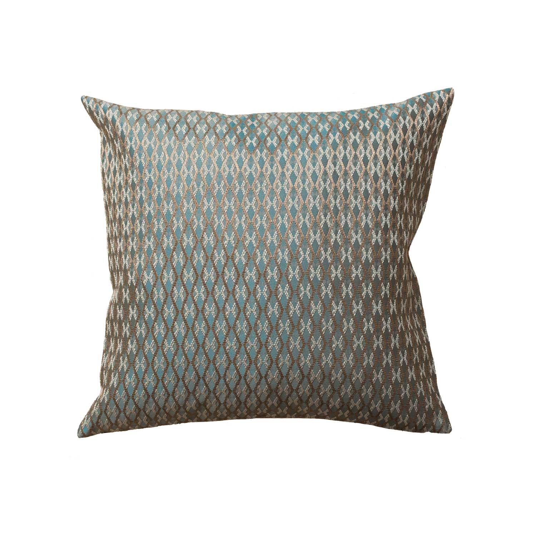 Декоративная подушка из бирюзовой ткани