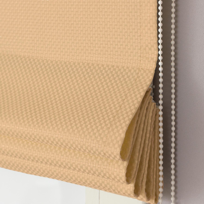 Римские шторы из ткани песочного цвета