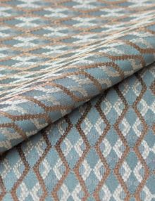 Ткань голубого цвета для римских штор