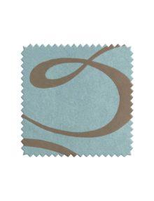 Жаккардовая ткань для штор голубого цвета с орнаментом