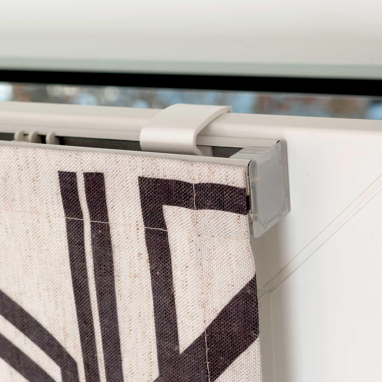 Мини римские шторы на пластиковые окна с установкой без сверления