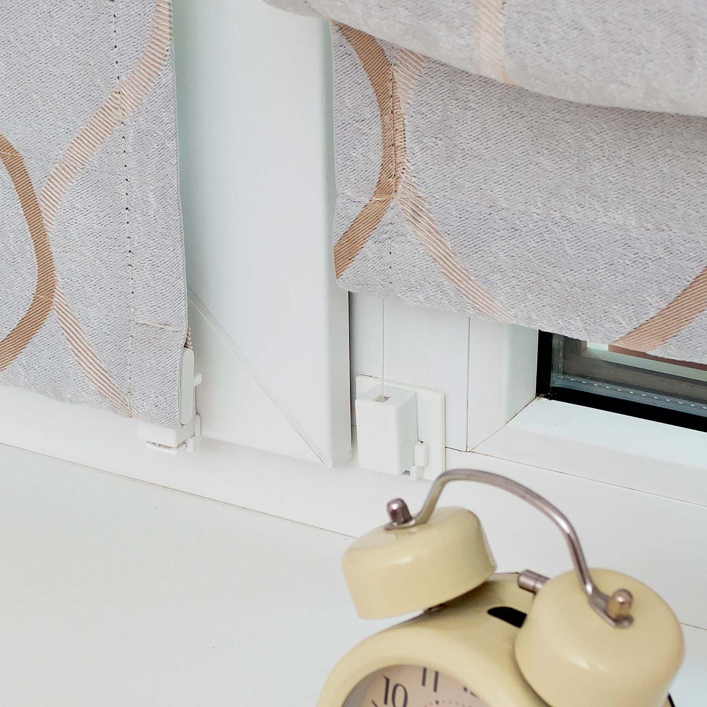 Мини римские шторы крепятся на окна без сверления и со сверлением на глухие окна