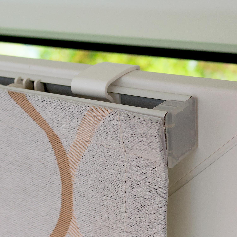 Мини римские шторы для пластиковых окон без сверления