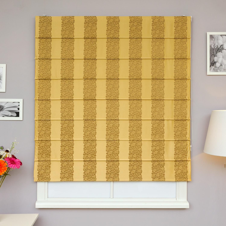 Красивые римские шторы из ткани в полоску