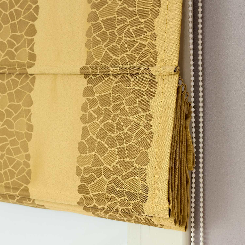 Римские шторы из ткани в полоску