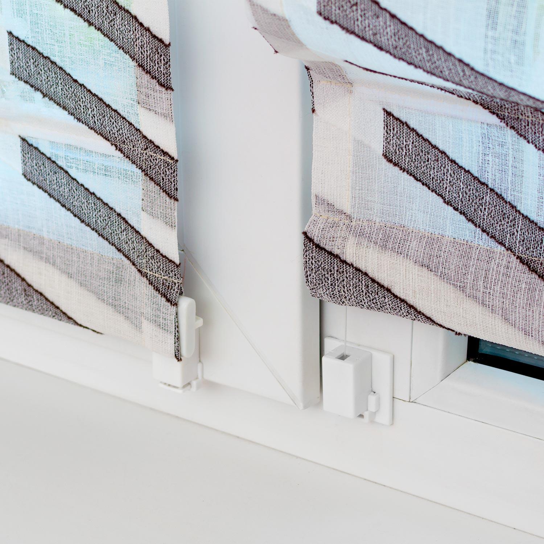 Крепление мини римских штор на пластиковое окно