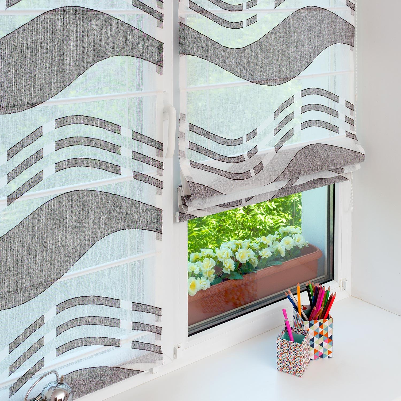 Мини римские шторы на пластиковом окне
