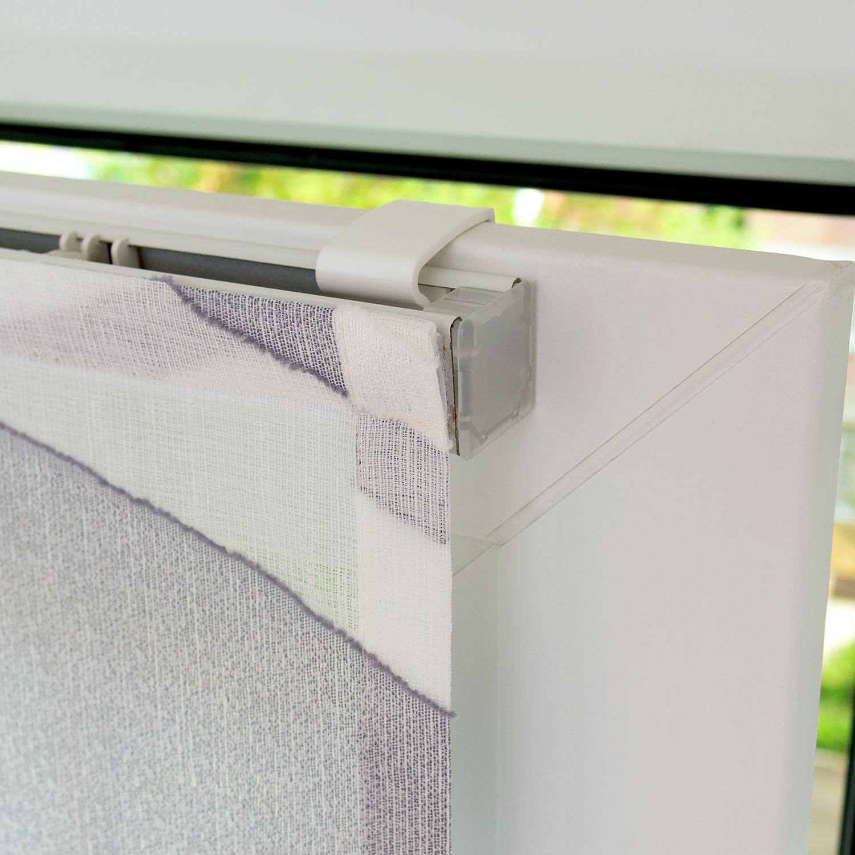 Мини римские шторы с крепление без сверления на поворотно-откидные окна
