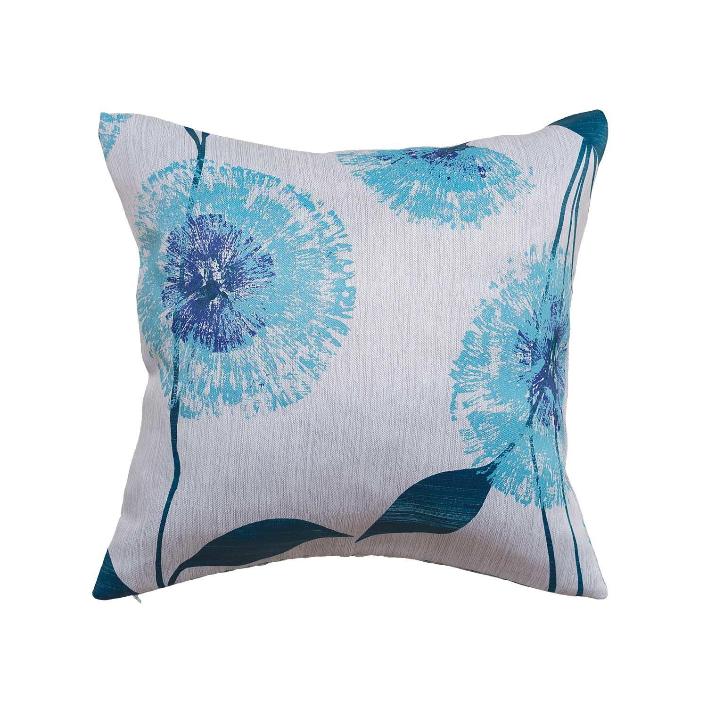 Декоративная подушка с одуванчиками синего цвета
