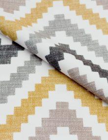 Ткань для штор с рисунком зигзаг
